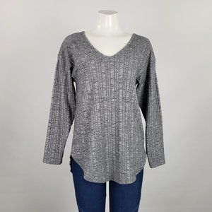 Haoduoyi Grey Long Sleeve Top Size M